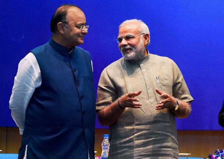 File pic of FM Arun Jaitley and PM Narendra Modi
