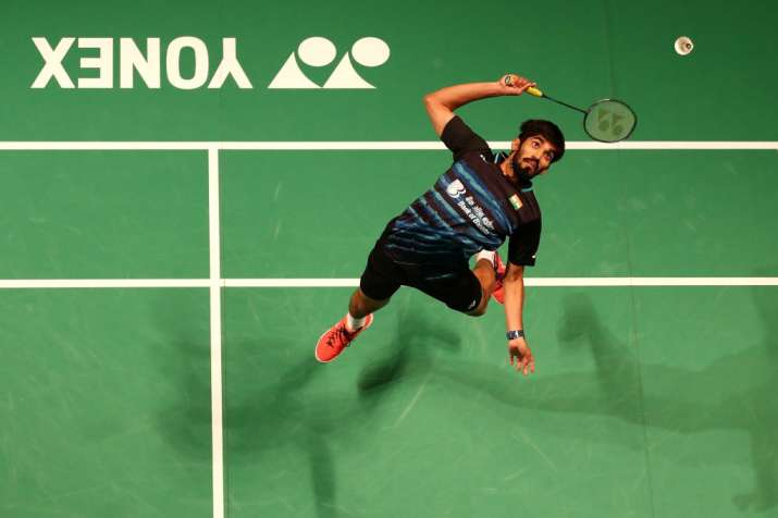 Kidambi Srikanth of India in action