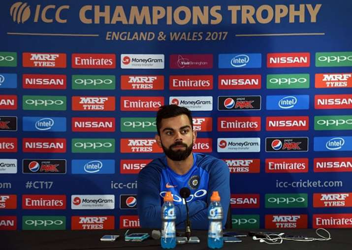 Virat Kohli speaks at the pre-match press conference ahead