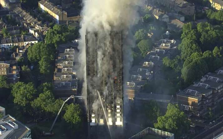 India Tv - At least 6 dead as massive fire engulfs London's Grenfell Tower, several injured
