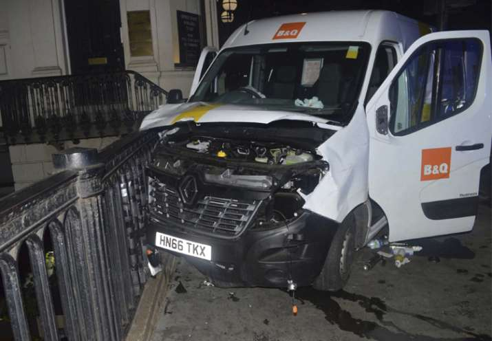 The van used in the London Bridge attacks of June 3