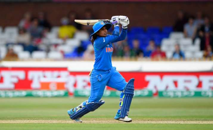 Mithali Raj hits out during the ICC Women's World Cup 2017