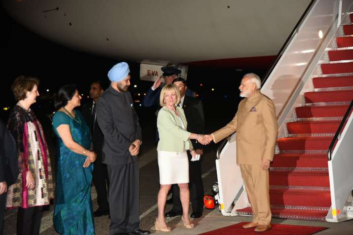 PM Modi arrives in US on the second leg of three-nation