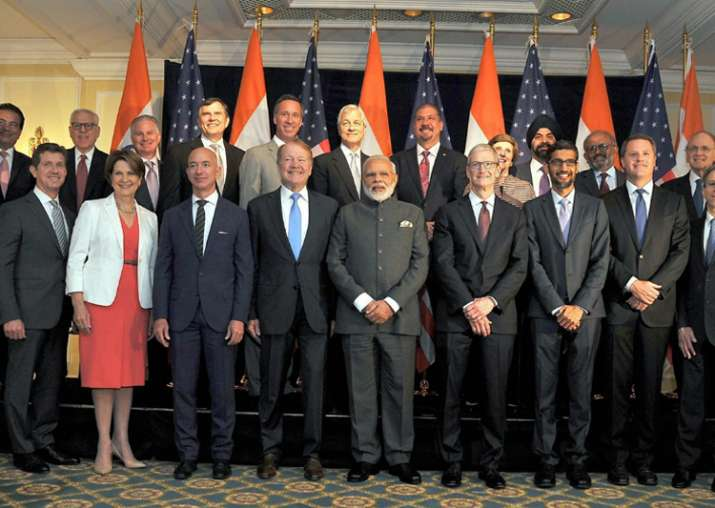 PM Narendra Modi meets top global CEOs in Washington
