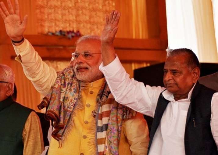 File pic - Mulayam attends dinner hosted by CM Yogi for PM
