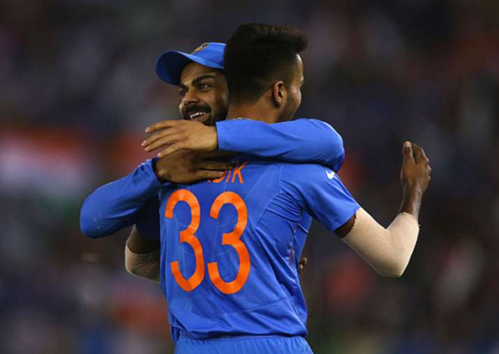 A file image of Virat Kohli and Hardik Pandya.
