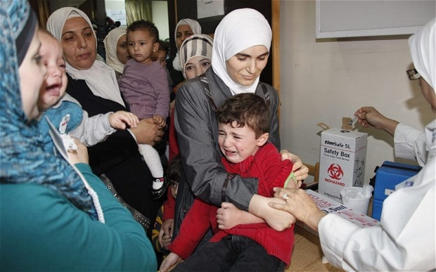 Polio in Syria turns into a challenge