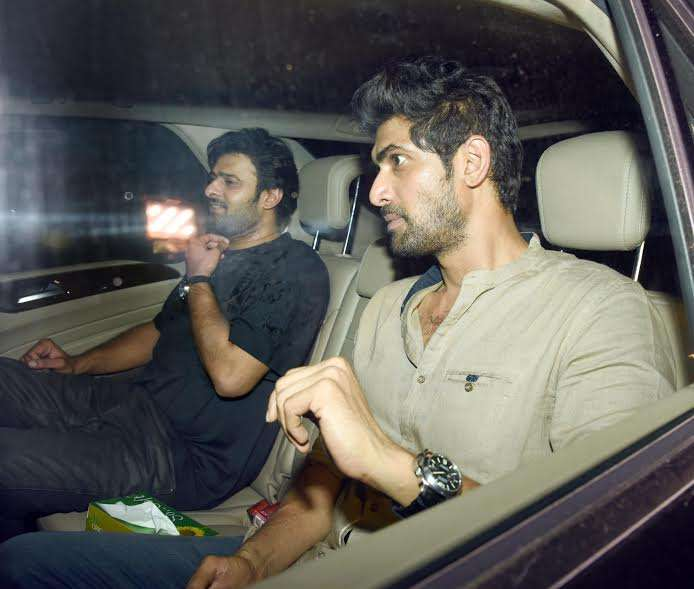 India Tv - Rana Daggubati and Prabhas at Karan Johar's bash