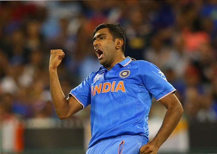 Ravichandran Ashwin celebrates a wicket