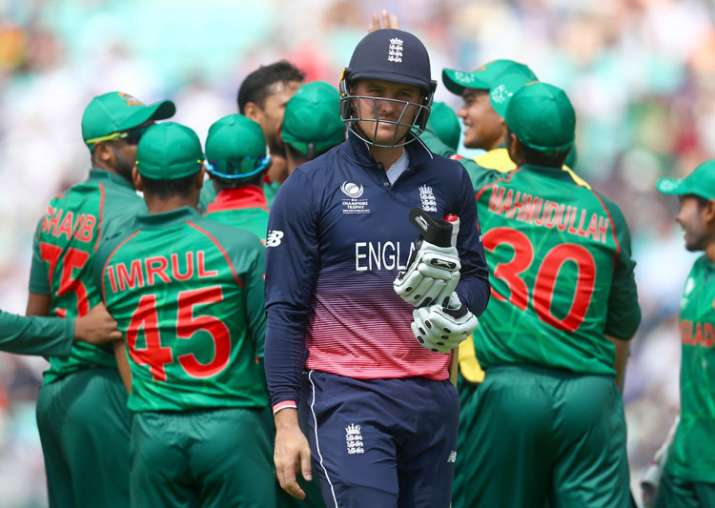 Jason Roy was dismissed for 1 in England's game against