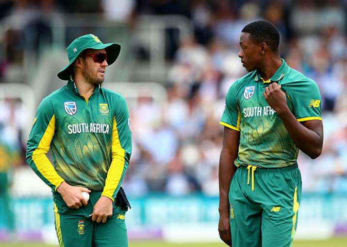 A file image of AB de Villiers and Kagiso Rabada.