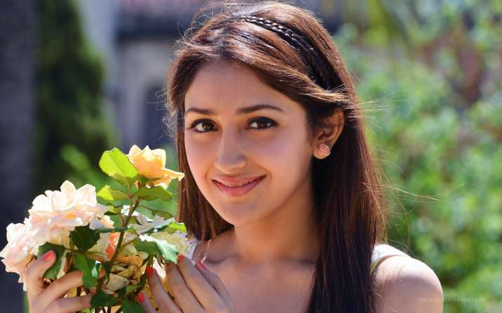 dilip kumar grand niece sayyeshaa dance video