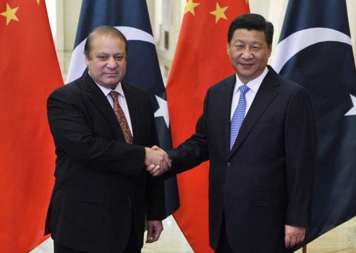 File pic - Nawaz Sharif meets Chinese President Jinping