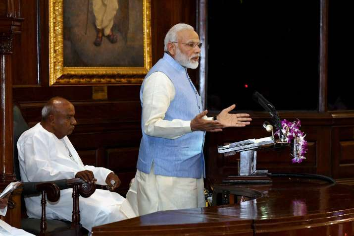 PM Narendra Modi addressing the gathering at the Central