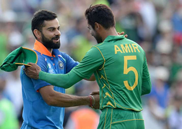 A file image of Virat Kohli and Mohammad Amir.