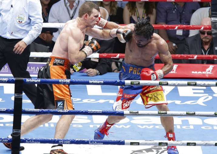 Manny Pacquiao lost his WBO welterweight world title to