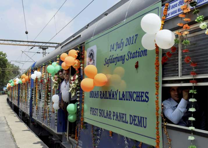 Railways launches first DEMU train with solar-powered