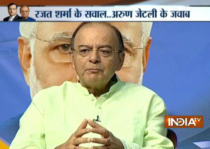 GST launch: Finance Minister Arun Jaitley live on India TV