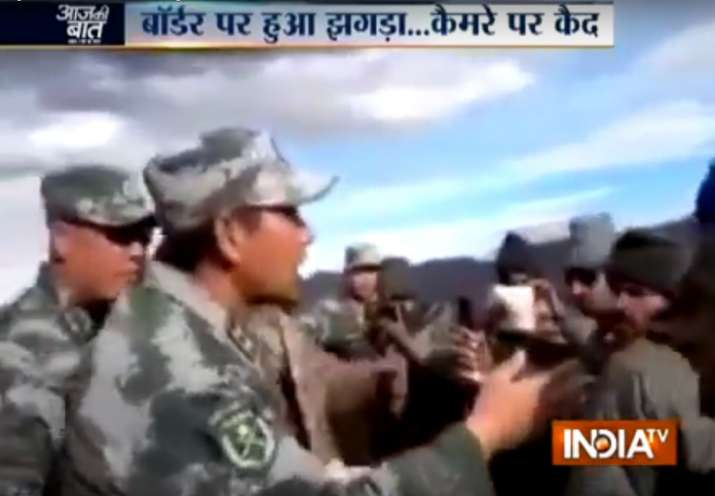 Verbal spat broke out between Indian and Chinese troops in