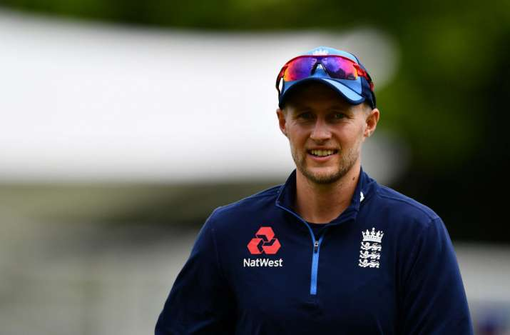 Joe Root of England looks on during an England Net Session