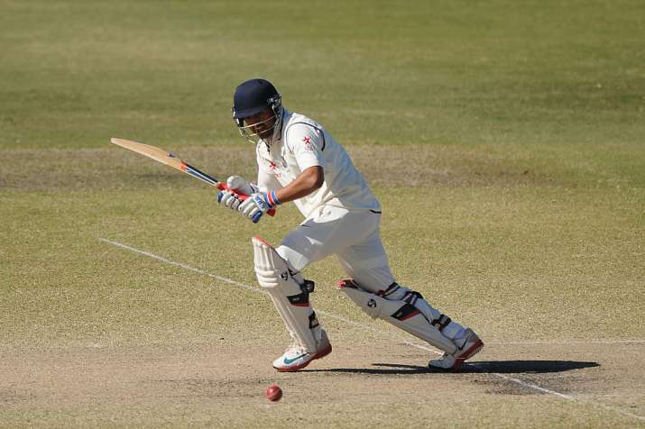 Karun Nair bats during the Quadrangular Series match