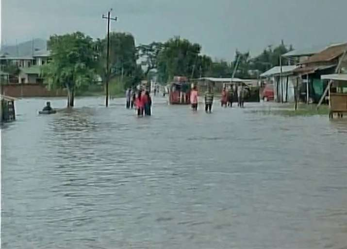 Torrential rain triggers flash flood in Manipur
