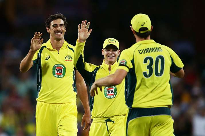 A file image of Australian cricketers
