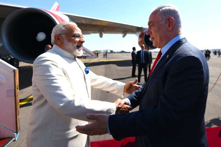 Modi today became first Indian PM to visit Israel