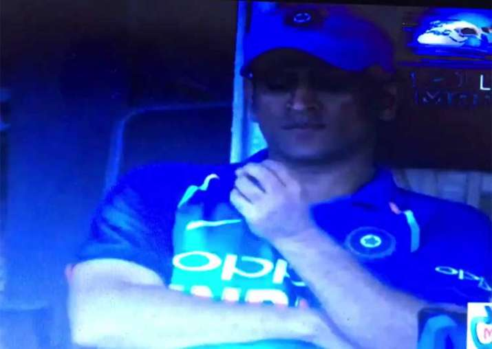 MS Dhoni in tears after Antigua defeat