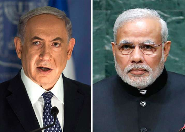 File pic of Benjamin Netanyahu and Narendra Modi