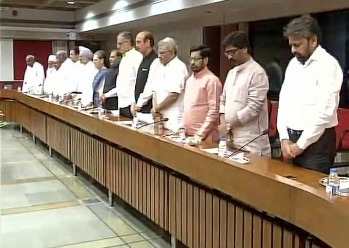 Opposition leaders observed a two-minute silence at the