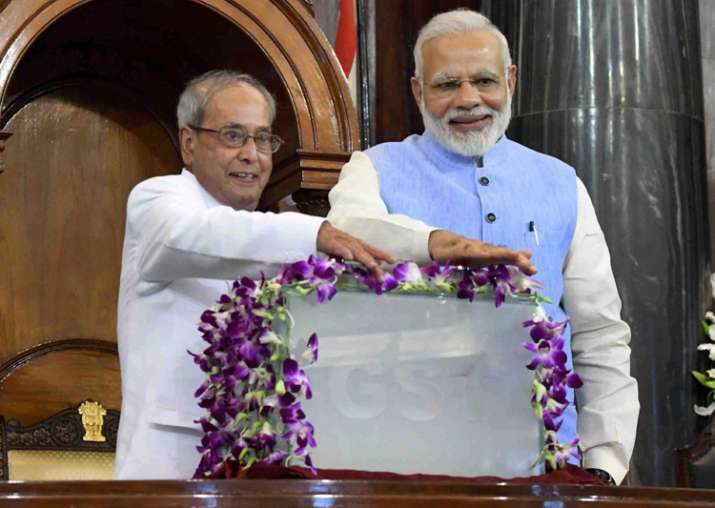 President Mukherjee and PM Modi launch landmark GST