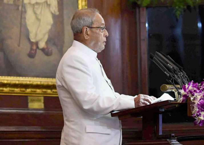 President Mukherjee addresses special session of Parliament