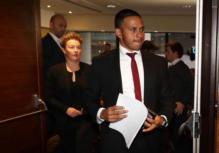Usman Khawaja and Former cricketer Clea Smith attend a