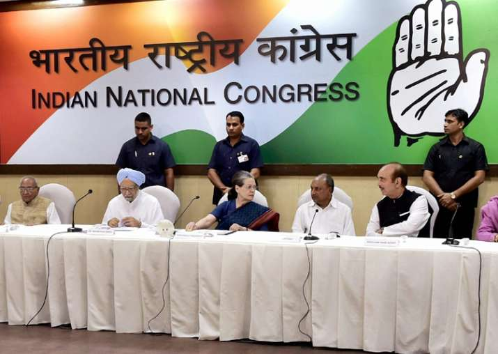 Congress Working Committee CWC meeting at party HQ in New