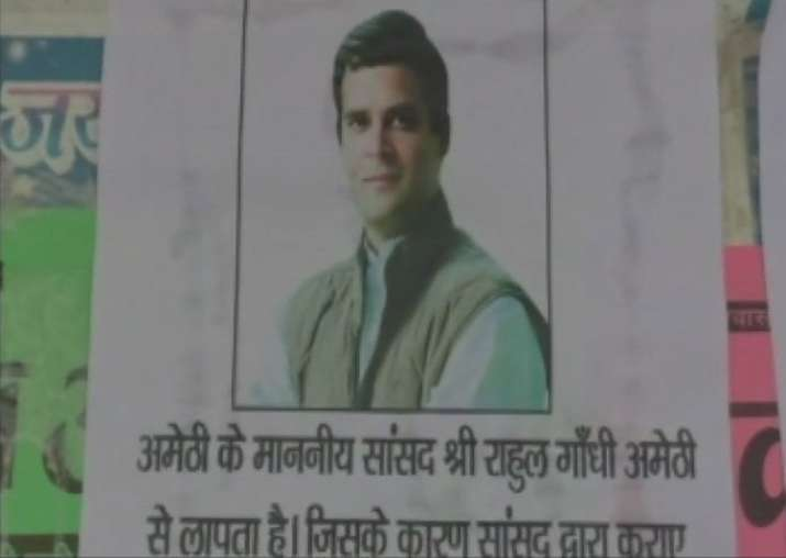 'Rahul Gandhi missing' posters come up in Amethi