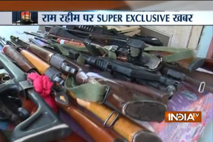 Arms recovered from Ram Rahim's Dera in Sirsa