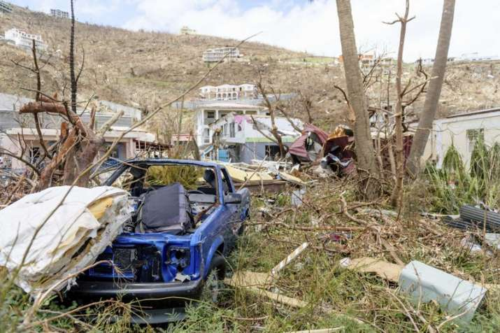 India Tv - Cars wrecked by Hurricane Irma on the British Virgin Islands