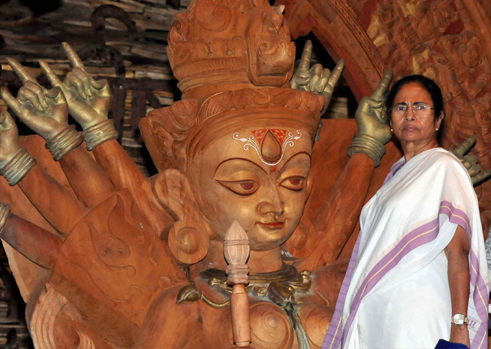 No Durga Idol Immersion Without Police Permission: Mamata Banerjee