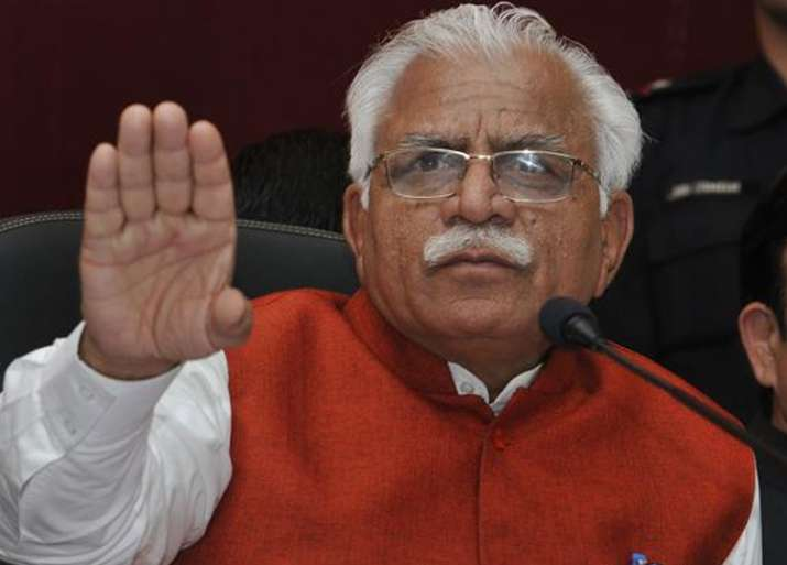 File pic of Haryana Chief Minister Manohar Lal Khattar
