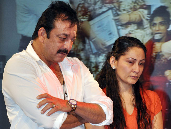 I've many shoes which my wife hits me with, says Sanjay Dutt