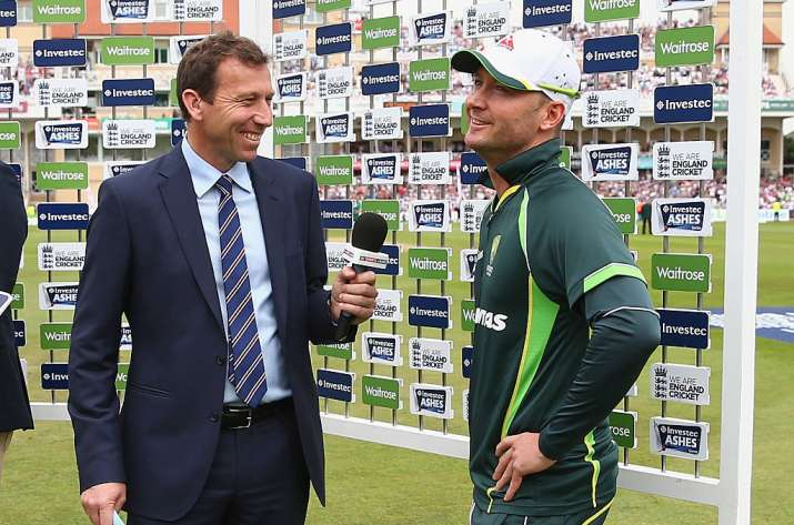 Michael Clarke reacts to Harbhajan Singh's jibe at Australian batting
