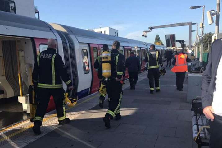'Improvised explosive device' used in London train attack