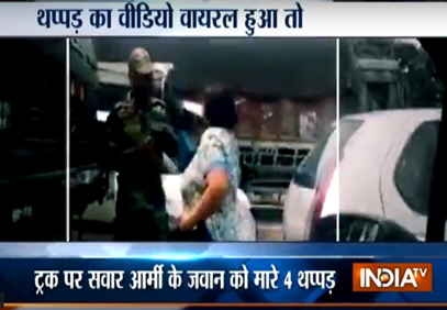 Gurgaon woman slaps Army jawan rep