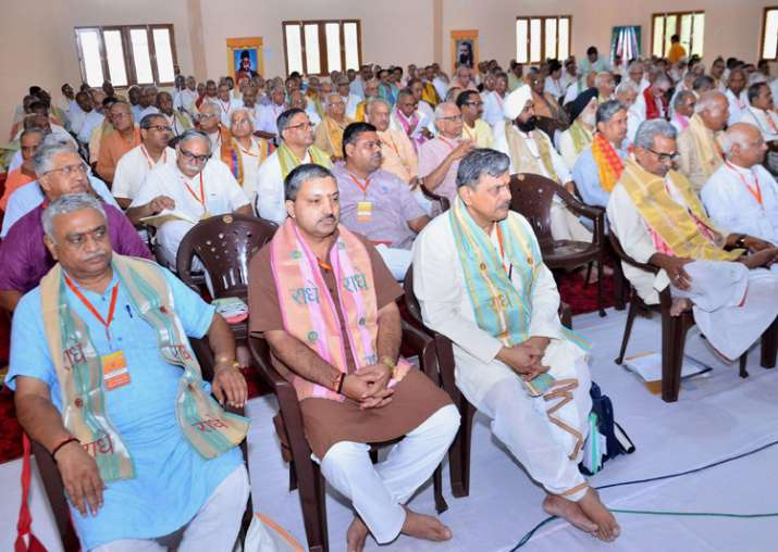 RSS leaders during 3-day annual meeting of Sangh in