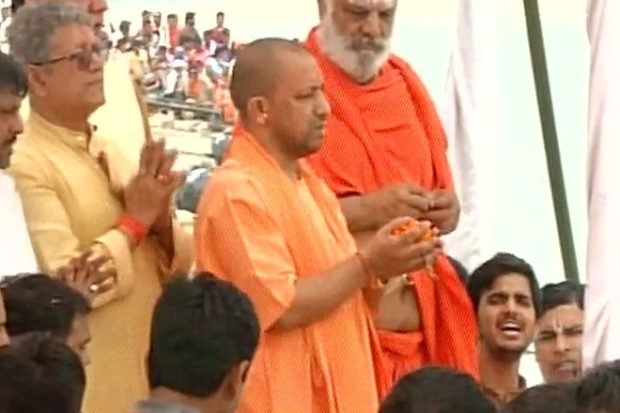 Yogi Adityanath Plans 100m Tall Lord Ram Statue On Ayodhya River Bank