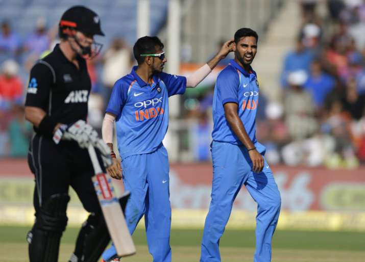 Team New Zealand attend practice session ahead of 3rd ODI against India