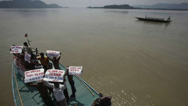 India Tv - Protest against dams on Brahmaputra river in India