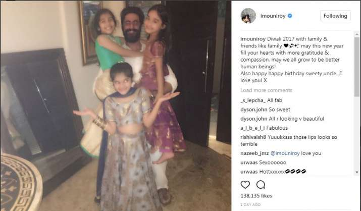 India Tv - Mouni Roy uploaded pictures from the Diwali bash, which also had Mohit Raina
