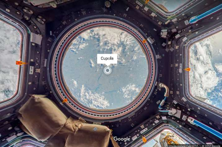 India Tv - International Space Station as seen from Google Maps